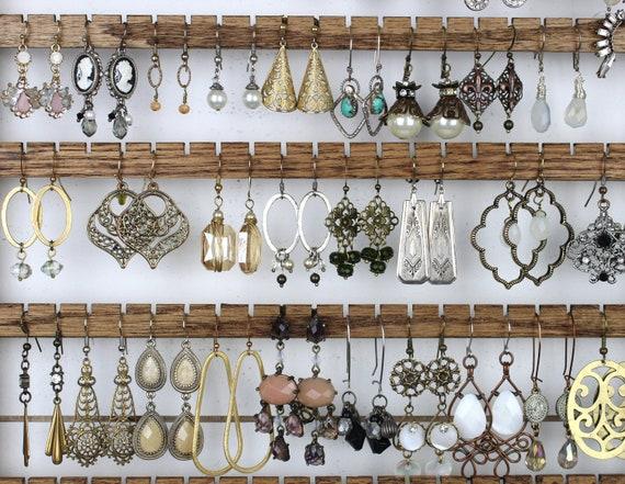 17 Handmade Wood Earring Holders Diy Earring Organizer Etsy