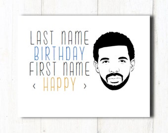 Drake lyrics card | Etsy