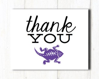 PRINTABLE // Thank You Cards // TCU Cards // Stationery // TCU Stationery // Texas Christian University Cards // Horned Frogs