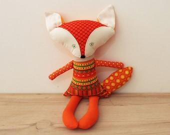 Fox Toy – Woodland Soft Toy – Orange Fox Plush Toy – Fox Plushie Shower Gift Gender Neutral - Woodland Nursery Décor