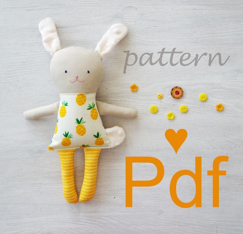 Pattern Newborn Bunny Gift,Toddler Soft Toy PDF Sew Bunny Toy,Woodland Plush Toy,Bunny Fabric Doll Woodland Soft Toy Bunny Doll Pattern
