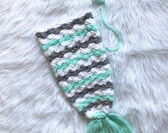 Mermaid Crochet Set - (Specify color in Notes)