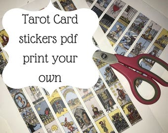 image relating to Free Printable Tarot Cards referred to as Printable tarot card Etsy