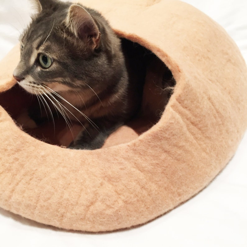 Pink Cat Cave / Cat Cocoon / Cat Home image 0