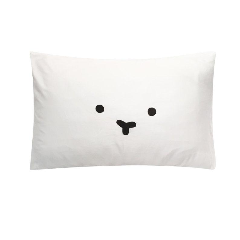 Bear Screenprinted Pillowcase  Tencel image 0