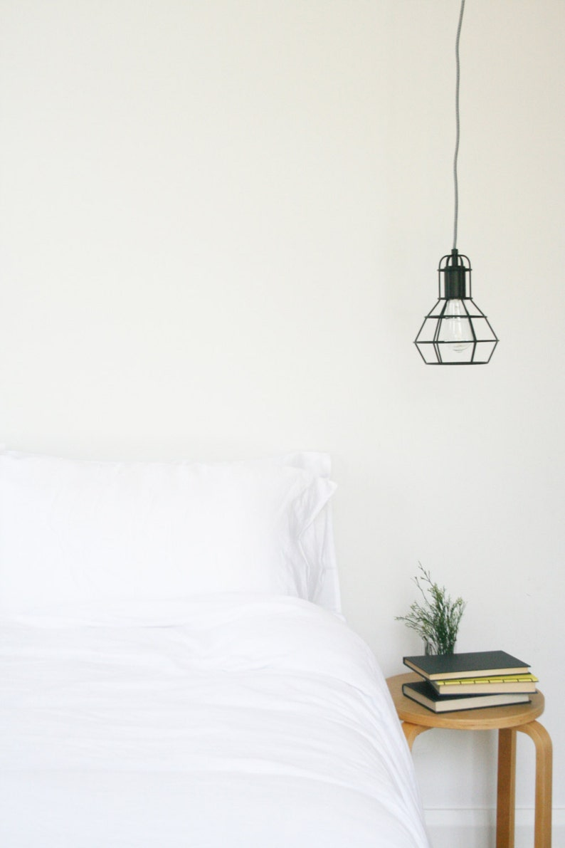 White Tencel Duvet/Quilt Cover and Pillowcase Set image 0