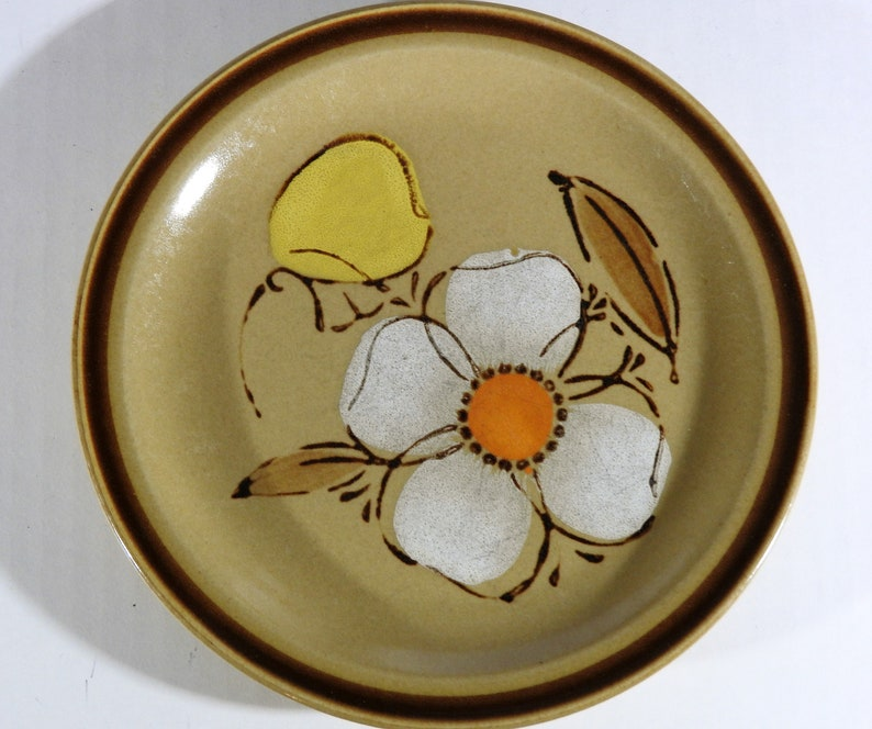 HEARTHSIDE Stoneware  Dogwood  10.5 Dinner Plate Made in Japan Excellent Condition