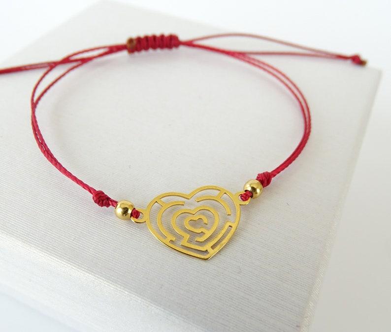 Tiny Heart Bracelet Friendship Bracelet Dainty Bracelet Heart Bracelet GoldSilver 925 Silver Jewelry