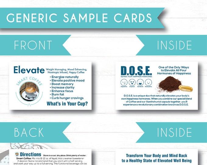 Folded Sample Cards - Generic