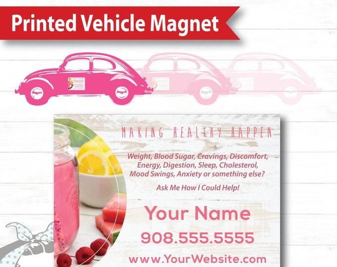 White Barnwood Vehicle Magnet - Printed Product