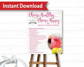Poster - White Barnwood - Instant Download