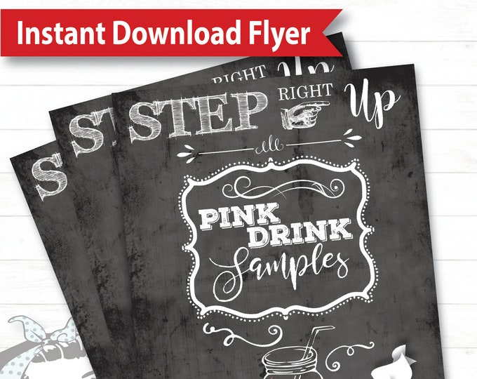 Step Right Up Flyer - Instant Download