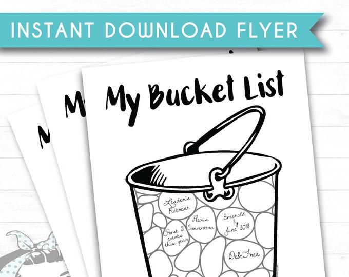 My Bucket List - Instant Download