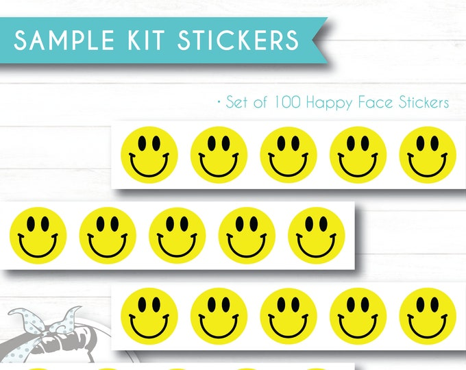 Sample Kit Stickers - Happy Faces