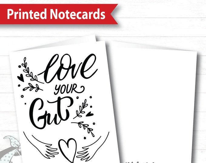 Notecards - Love Your Gut, plexus Notecard, plexus Swag, plexus Card, Printed Notecard, Pink Drink Notecard