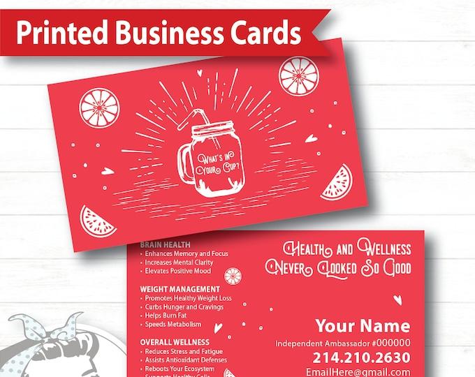 Business Card - Cup of Happiness, plexus Business Card, New slim, Pink Drink, Pink Drink Update, plexus Swag