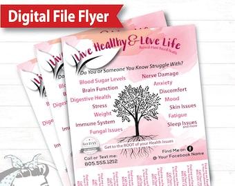 Tear Off Flyer - Roots - Digital File, plexus, plexus product flyer, plexus marketing, plexus swag, plexus brochure