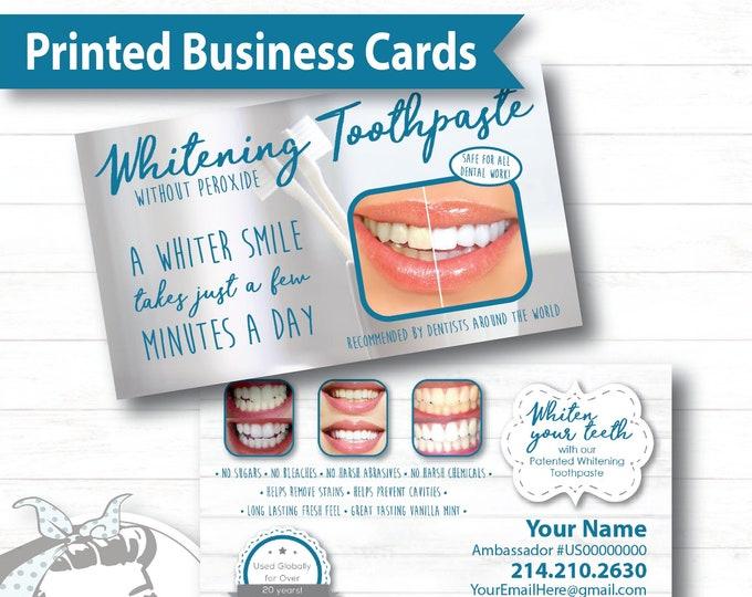 Business Card - Whiter Smile, NuSkin Business Card , NuSkin Toothpaste, NuSkin Swag