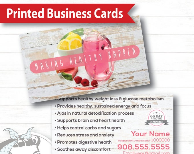 Business Card - White Barnwood, plexus Business Card, New slim, Pink Drink, Pink Drink Update, plexus Swag