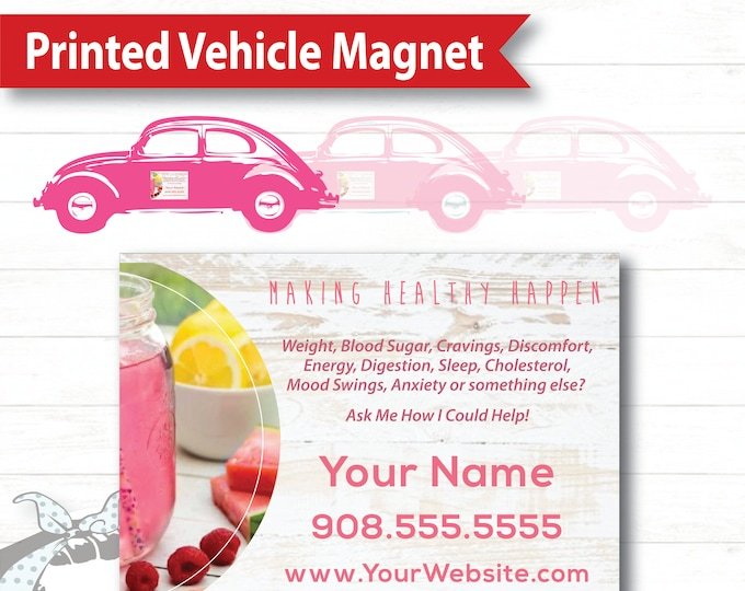 Vehicle Magnet - White Barnwood, Plexus Car Magnet, Marketing Material, Signage