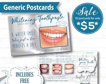 NuSkin Sample Postcard, Generic Sample Postcard, NuSkin Swag, Non-Custom NuSkin Postcard, Free Shipping