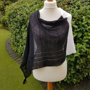 mohair sweater knitted mohair shawl grey mohair scarf birthday gift wool scarf Gray white mohair wool poncho wool pullover top
