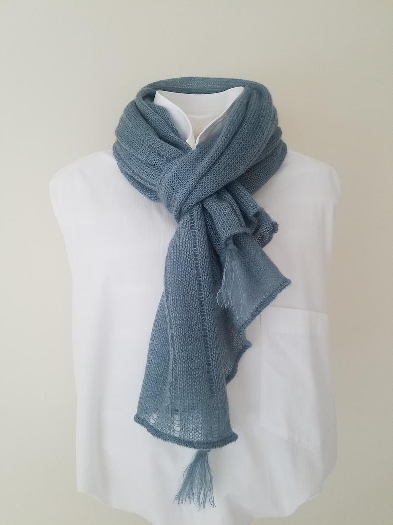 grey formal wrap shawl winter scarf mohair wool shawl wool shrug evening shrug mohair shawl mohair scarf Mid grey silk mohair poncho
