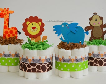 Safari Diaper Cake Etsy