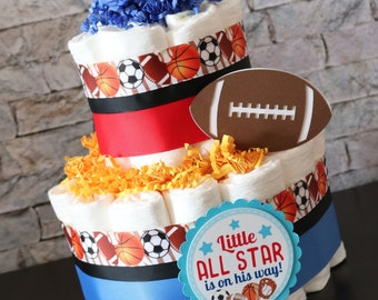 Awesome All Star Sports Cake Etsy Funny Birthday Cards Online Bapapcheapnameinfo