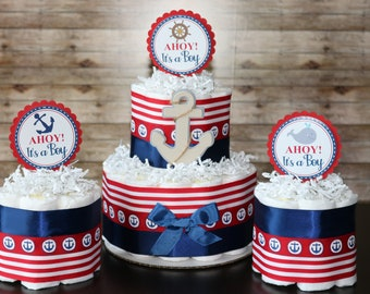 Nautical Baby Shower Centerpiece Etsy