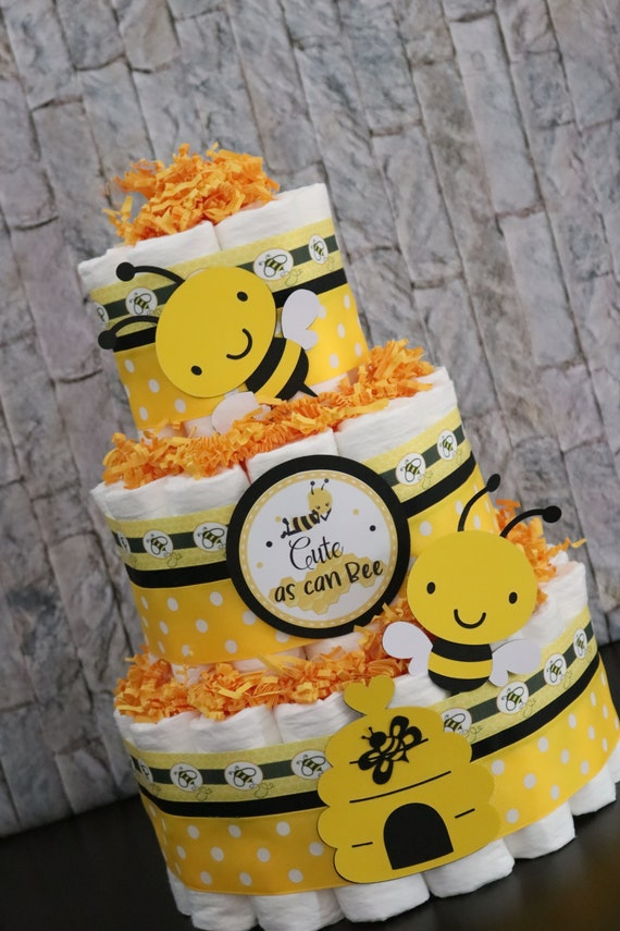 Mother to Bee Baby Shower Baby Shower Decorations Bumble Bee  Diaper Cake