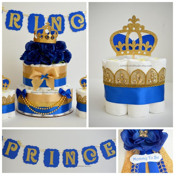 PARTY IN A BOX Royal Prince Diaper Cake/ Little Prince