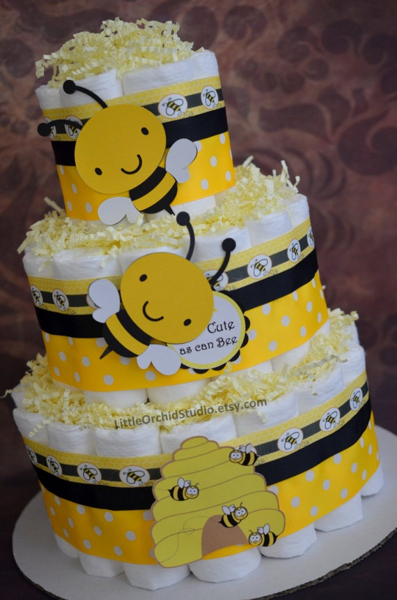 Bumble Bee Diaper Cake Neutral Mommy To Baby