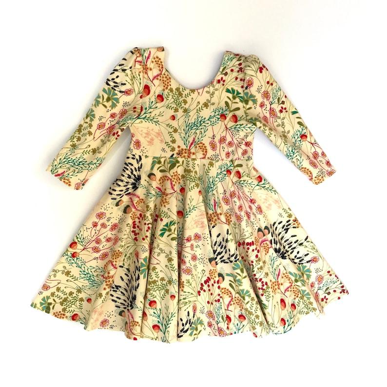 618b7f0f4b651 Girls Knit Dress with Circle Skirt Circle Skirt Dress Knit | Etsy