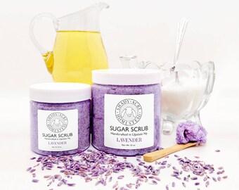 Sugar Scrub with Goat Milk, 10 oz facial scrub, exfoliating scrub, essential oil, lavender scrub, sugar face scrub, foot scrub, body scrub