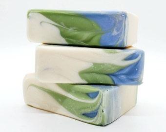 Large Eucalyptus Mint Goat Milk Soap 5.5 oz, handmade soap, handcrafted soap, sensitive skin soap, natural soap, psoriasis and eczema soap