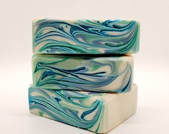 Large Gentleman's Tonic goat milk soap 5.5 oz, hand made soap, sustainable soap, natural eco friendly soap, bar soap