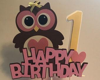 Owl Centerpiece - Owl Birthday Centerpiece - Owl Party Centerpiece - Owl Centerpiece Sticks - Owl Party Decor - Owl First Birthday, Set of 3