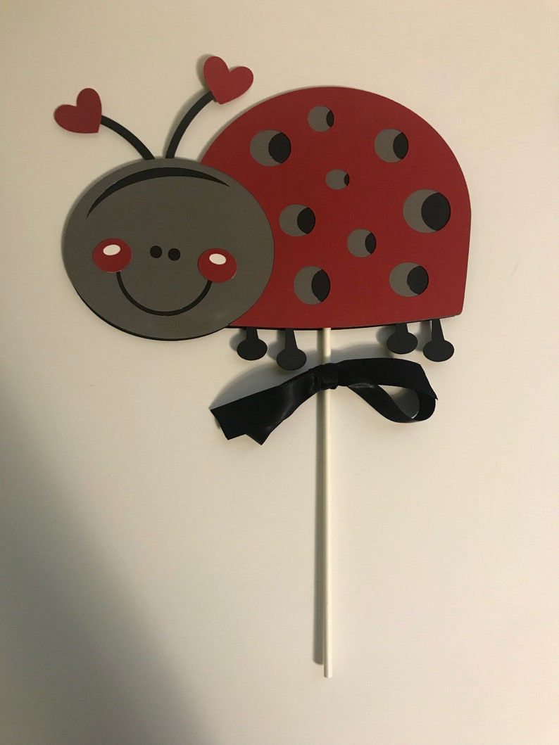 Ladybug Smashcake Topper Smash Cake