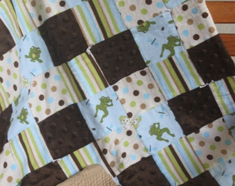 Baby Boy Frog Lap Quilt