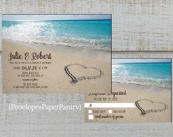 5435ce3c7bdb Beach wedding invitation