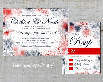 patriotic invitation etsy