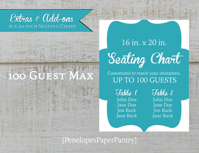 Custom Guest Seating Chart,Made to Match Wedding Decor,16x20