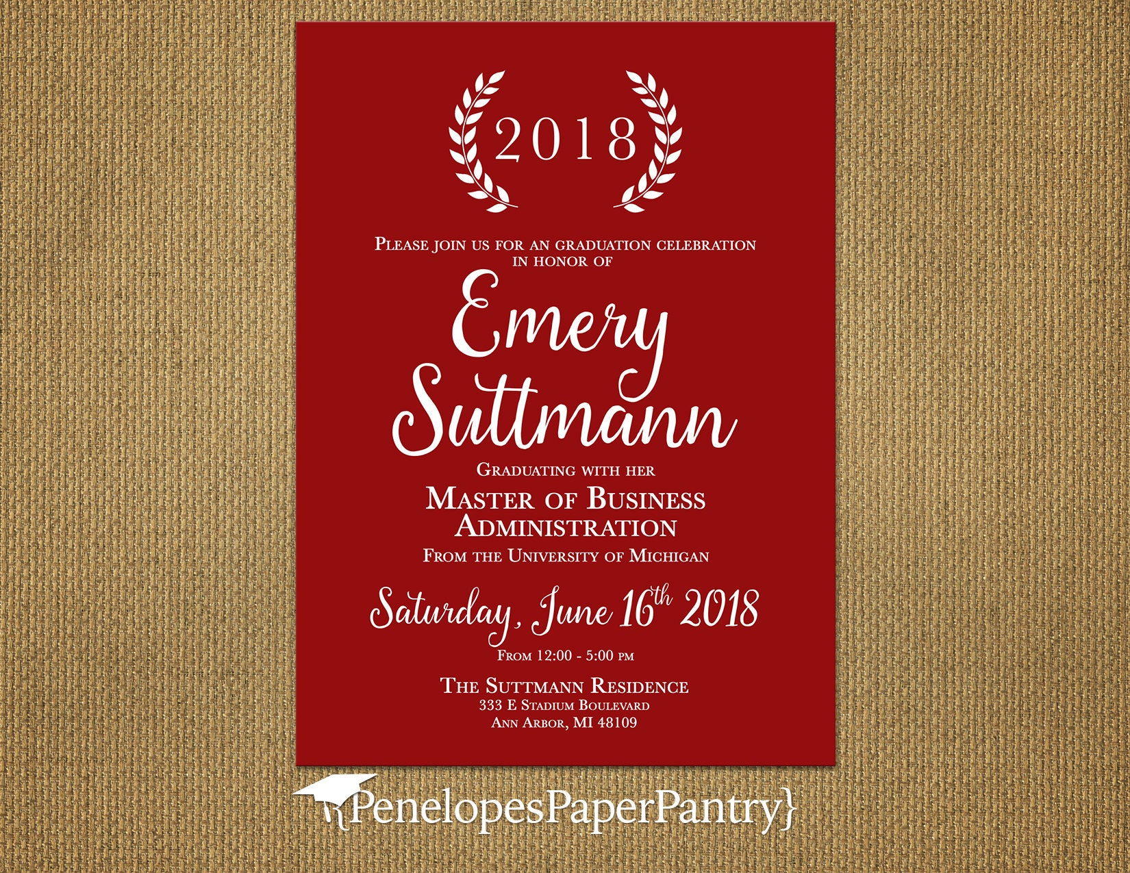 Elegant College Graduation AnnouncementGraduation | Etsy