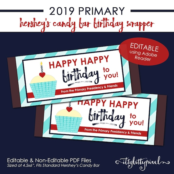 LDS 2019 Primary Hersheys Candy Bar Wrapper - Come Follow Me New Testament  Theme PRINTABLE Birthday Teacher Leader Gift Handout Treat P001