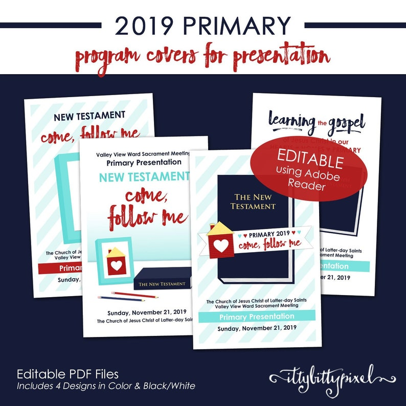 Lds 2019 Primary Presentation Program Cover Come Follow Me Etsy