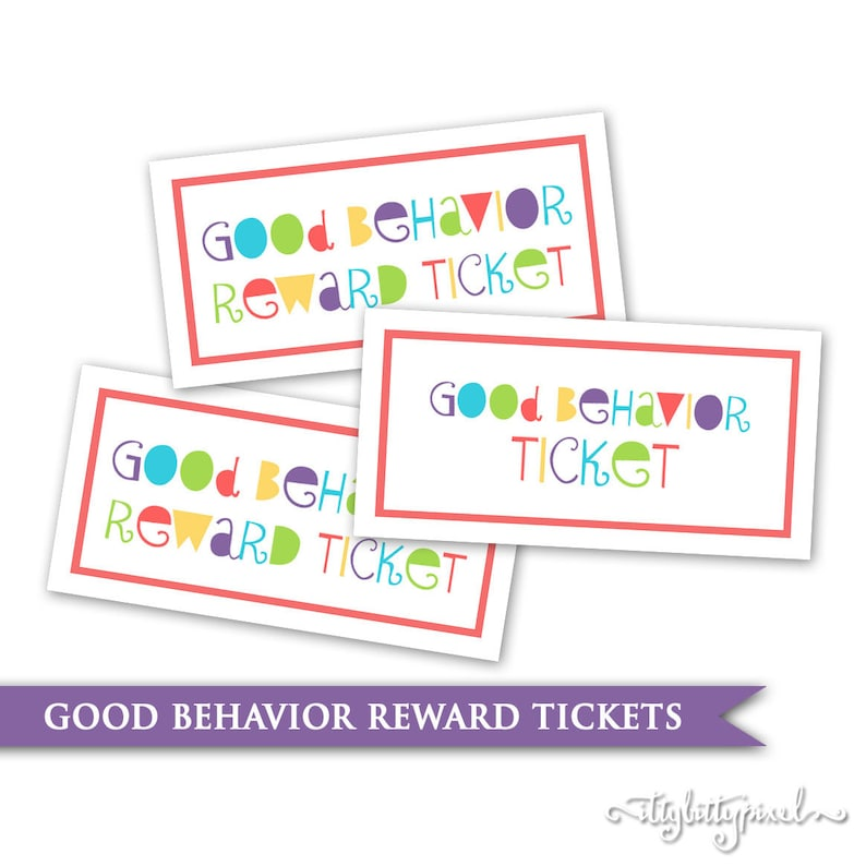 picture about Tickets Printable identified as Young children Routines Tickets- Printable Electronic PDF Advantage Process Ticket Card Objective Chart Young children Kid Clroom Instructor Allows Homeschool Chore