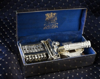 SOLD Stunning Empire Wilkinson Sword 7 day set of Razors with original blades, shave ready, original box, vintage razor, gifts for him,gifts