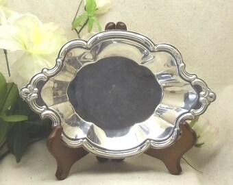 Vintage Silver Plated Bon Bon Dish, INTERNATIONAL SILVER, Wakefield, Pattern #548,Silver Holloware,antique silver bowl, #VH3034