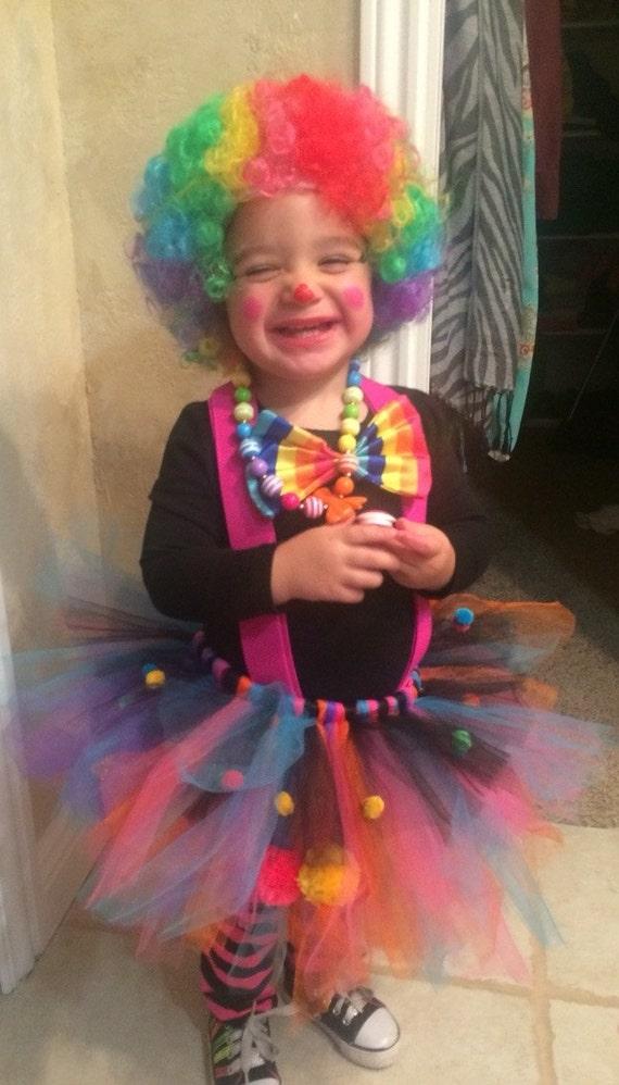 Clown Tutu Birthday Tutu Clown Costume Girls Clown Tutu | Etsy